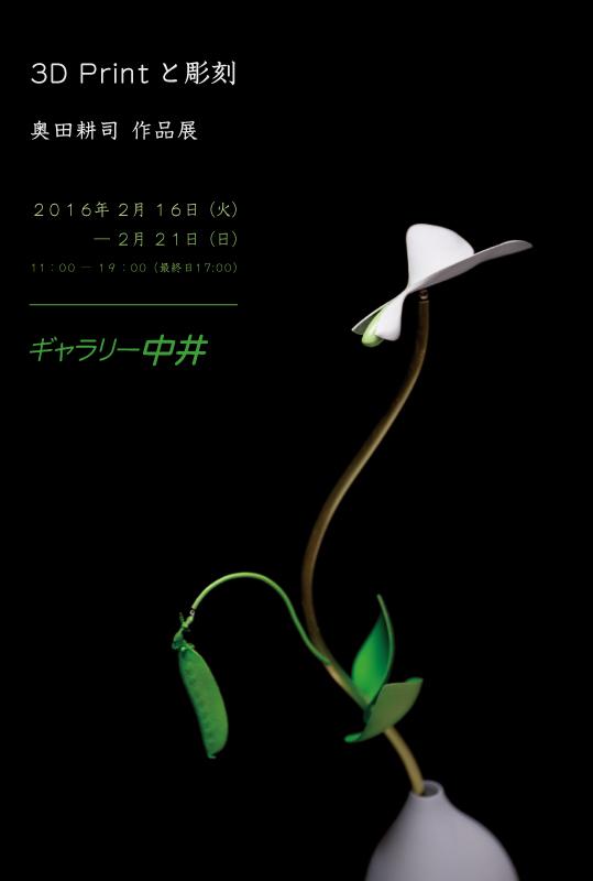 3D Printと彫刻 奥田耕司作品展 2016年 2月 16日(火)― 2月 21日(日)